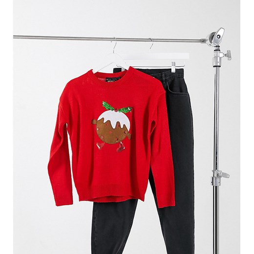 Brave Soul Petite sweter damski z okrągłym dekoltem Odzież Damska DV czerwony MURZ