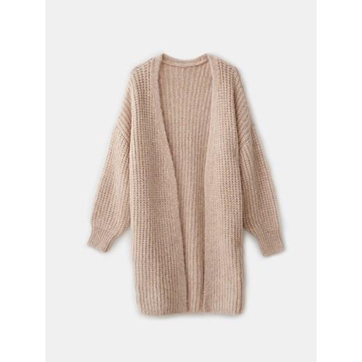 Sweter damski Mohito z dekoltem w serek Odzież Damska YP beżowy HMLY