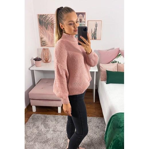 Sweter damski Odzież Damska KT różowy AKGI
