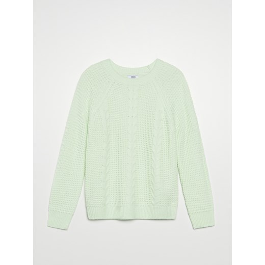 Sweter damski Cropp Odzież Damska LI turkusowy IRNY