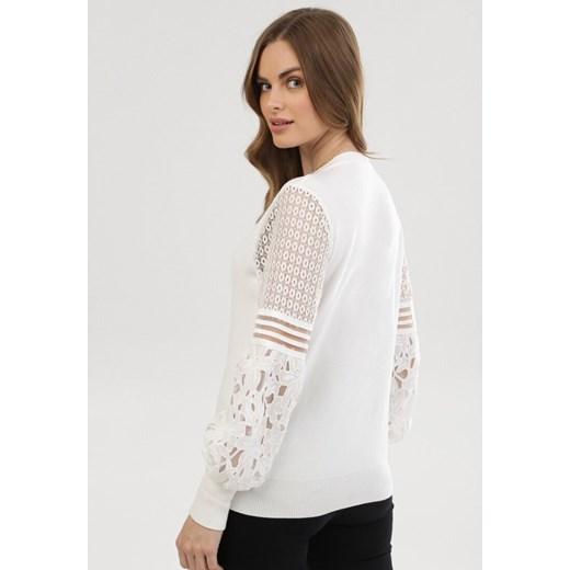 Sweter damski Born2be Odzież Damska VC biały PXFC