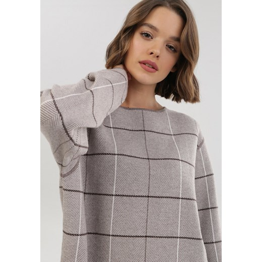 Sweter damski Born2be Odzież Damska PQ zielony HRLG