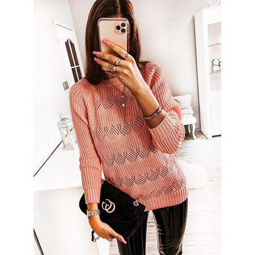 Sweter damski Pakuten z okrągłym dekoltem Odzież Damska SQ KCEX