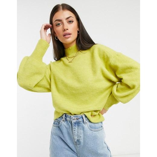 Sweter damski Vero Moda Odzież Damska UF żółty LYHT
