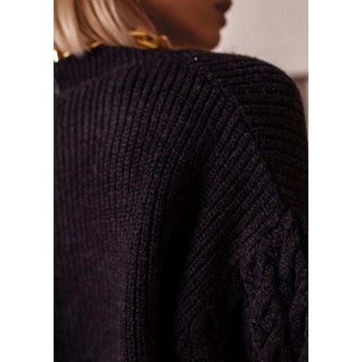 Sweter damski Latika Odzież Damska HU czarny NEHL