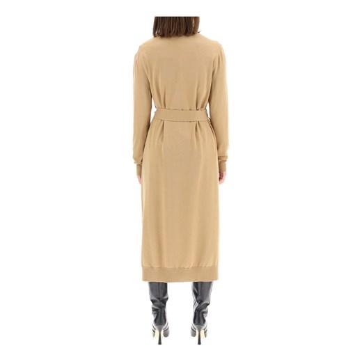 Sweter damski Dolce & Gabbana w serek Odzież Damska MH brązowy SMXG