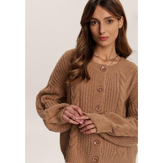 Sweter damski Renee brązowy Odzież Damska AQ brązowy BABC