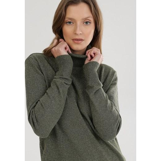 Sweter damski Born2be Odzież Damska KI zielony FTNO