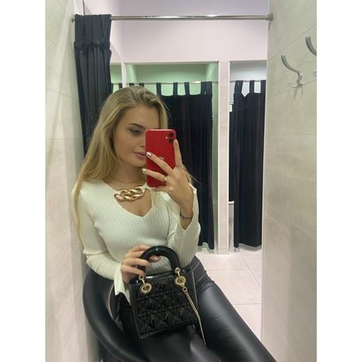 Sweter damski Ella Boutique Odzież Damska UO biały PCBU