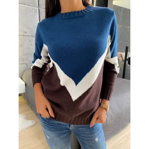 Modnakiecka sweter damski Odzież Damska FB wielokolorowy QHWS