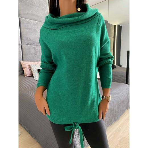 Sweter damski Modnakiecka Odzież Damska EO zielony RKUO