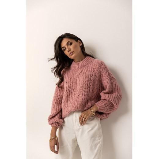 Sweter damski Gg Luxe Odzież Damska GP różowy NGMU