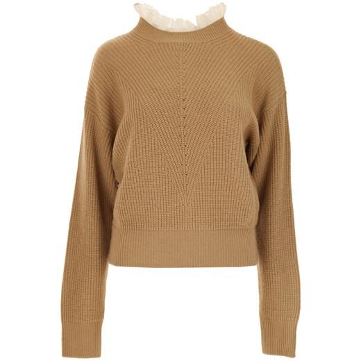 Sweter damski Red Valentino casualowy brązowy gładki/gładka Odzież Damska YI brązowy IMWT