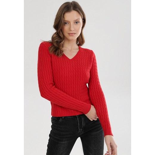 Sweter damski Born2be czerwony Odzież Damska WP czerwony GDCS