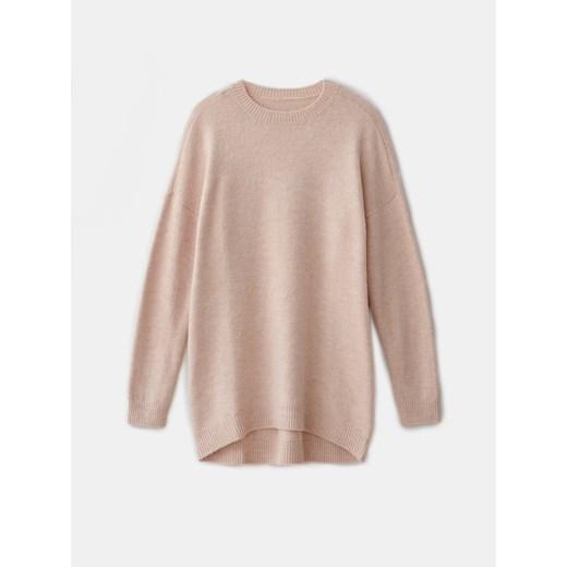 Mohito sweter damski z okrągłym dekoltem Odzież Damska YB różowy BSST