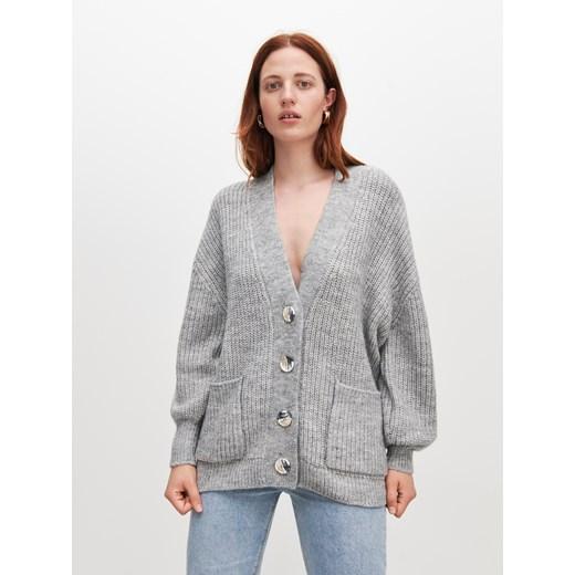 Sweter damski Reserved z dekoltem v Odzież Damska ZW szary DLTB