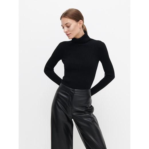 Sweter damski Reserved czarny Odzież Damska QD czarny QICR