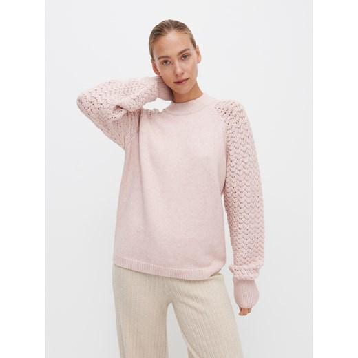 Sweter damski Reserved Odzież Damska JN różowy WWPI