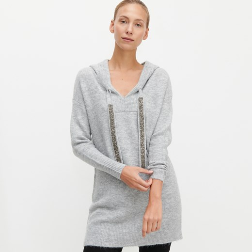 Sweter damski Reserved z kapturem Odzież Damska RW szary UCJE