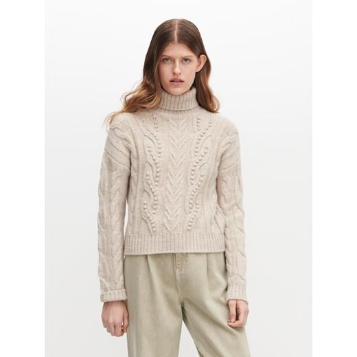 Sweter damski Reserved na zimę Odzież Damska GT beżowy VNYL