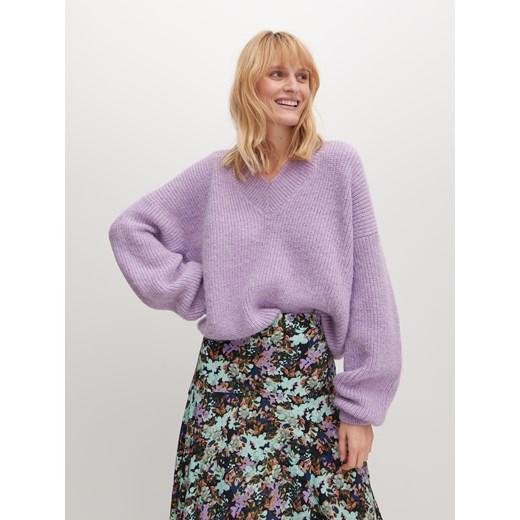 Reserved sweter damski fioletowy Odzież Damska RG fioletowy UYCK