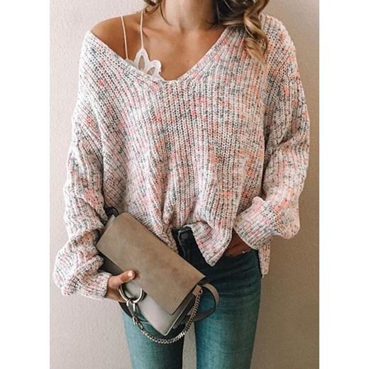 Sandbella sweter damski Odzież Damska ED wielokolorowy JUDT