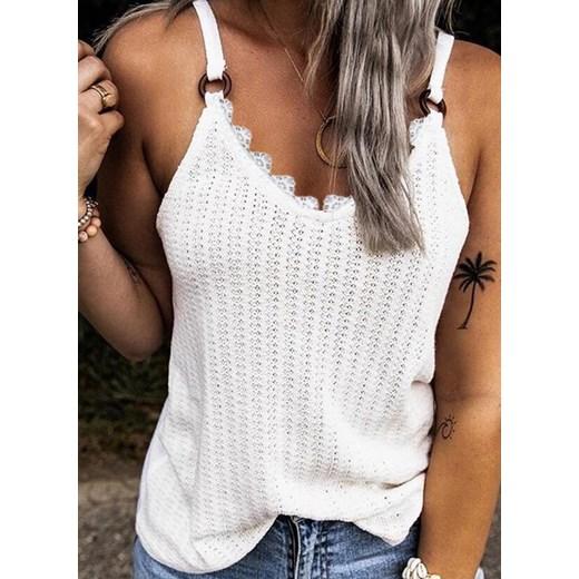 Sweter damski biały Sandbella Odzież Damska CU biały HFFT