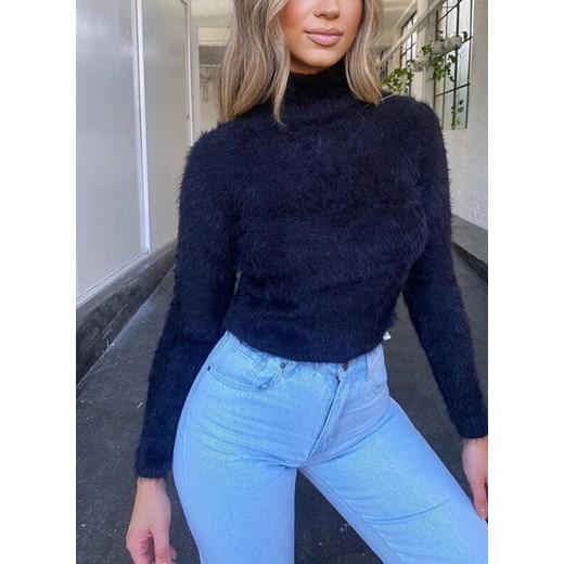 Sweter damski Sandbella granatowy Odzież Damska YQ SIOR