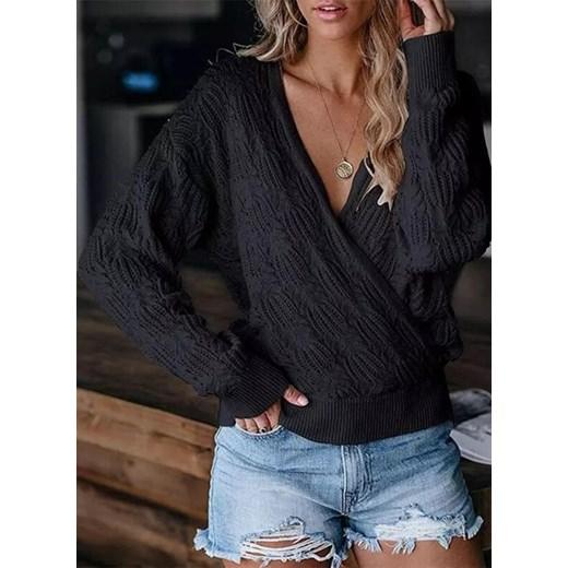 Sweter damski Sandbella casual Odzież Damska QM czarny JKUX