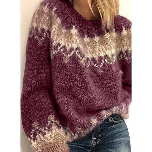 Sweter damski Sandbella Odzież Damska PI czerwony KUWD
