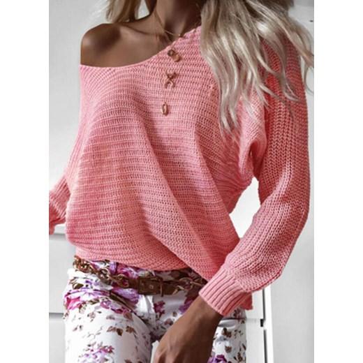 Sandbella sweter damski Odzież Damska PX różowy EBSN