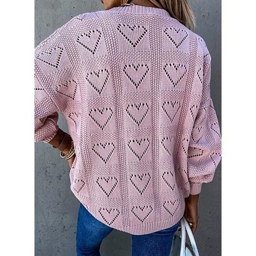 Sweter damski Sandbella Odzież Damska LN różowy YWKG