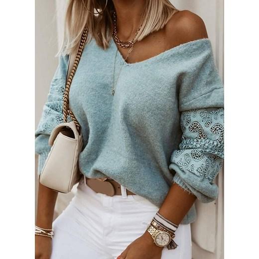 Biały sweter damski Sandbella Odzież Damska PR EOAZ