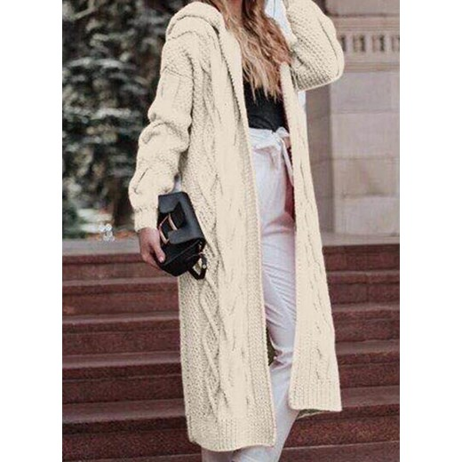Sweter damski Sandbella gładki z dekoltem v Odzież Damska EY beżowy EWIR