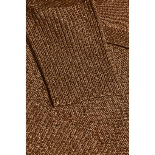 Sweter damski Kaffe z okrągłym dekoltem Odzież Damska YH brązowy DISP