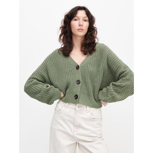 Sweter damski Reserved zielony bez wzorów casual Odzież Damska CD zielony TJPW