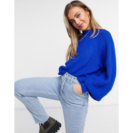 Threadbare – Chloe Sweter z okrągłym dekoltem-Niebieski wyprzedaż Asos Poland Odzież Damska KU niebieski NGKA