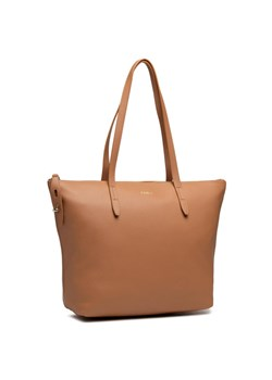 Brązowa shopper bag Furla na ramię