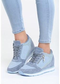 Niebieskie Buty Sportowe Damskie Wiosna 2021 W Domodi