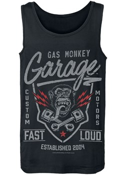 T-shirt męski Gas Monkey Garage z napisem