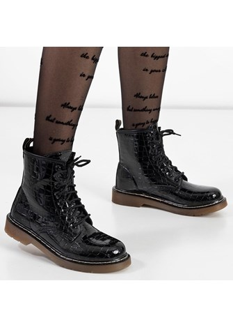 Czarne Niskie Botki Sztyblety Guma Chelsea Boots Boots Ankle Boot