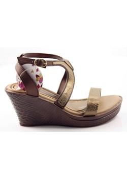 Złote sandały damskie ipanema, wiosna 2020 w Domodi