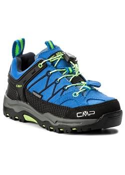 Buty trekkingowe dziecięce Adidas wiązane niebieskie z tkaniny bez wzorów