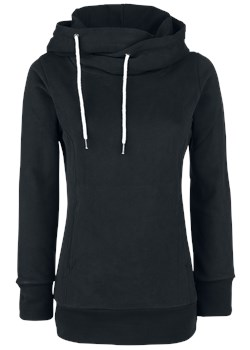 Urban Classics Ladies Long Logopatch Hoody Bluza z kapturem damska czarny