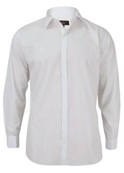 Koszula męska Bello bez wzorów biała z długimi rękawami z  IHTg2