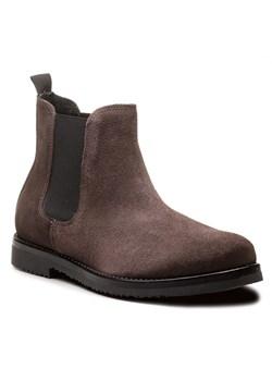 Buty zimowe męskie Gino Rossi eleganckie bez zapięcia