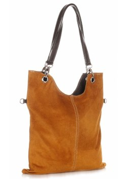 Shopper bag Genuine Leather z zamszu