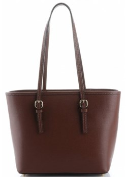 Brązowa shopper bag Genuine Leather elegancka