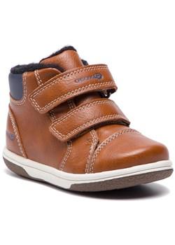 Buty zimowe dziecięce Geox brązowe trzewiki