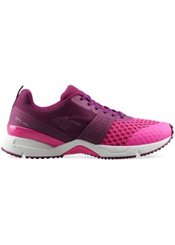 Buty sportowe damskie do biegania bez wzorów1 różowe na wiosnę wiązane